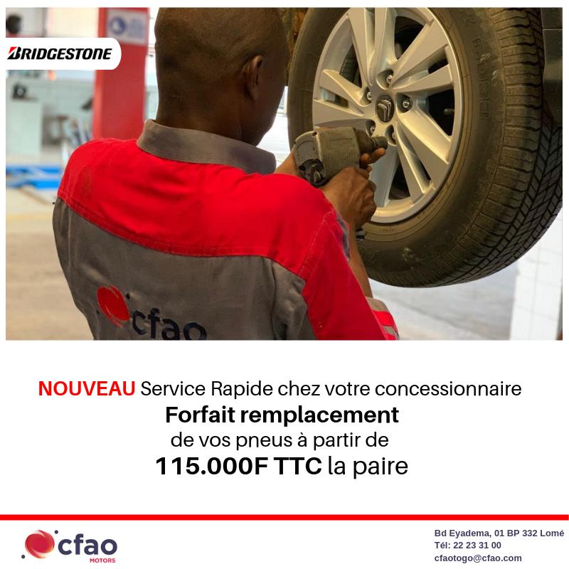 Forfait remplacement de vos pneus